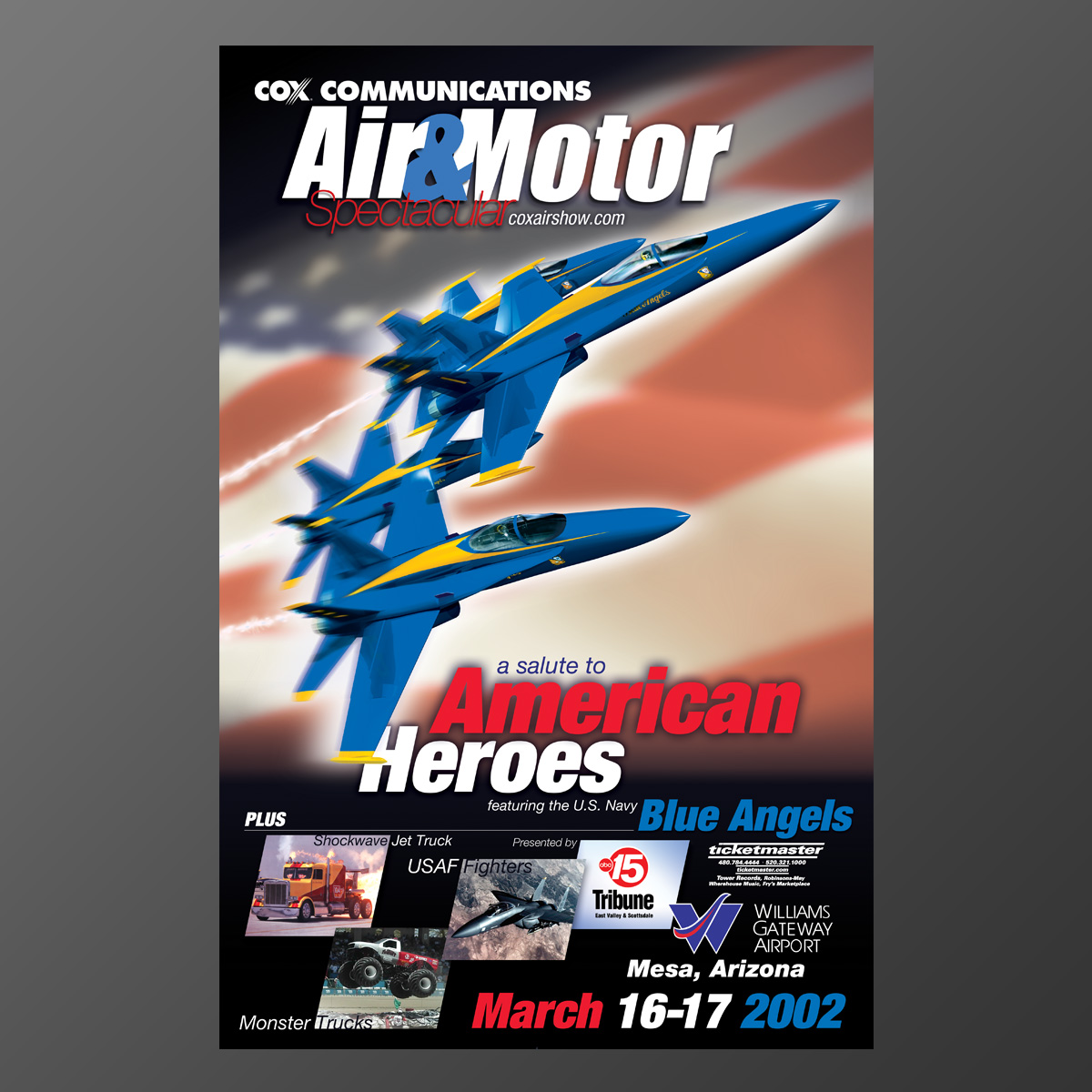 Air & Motor Spectacular Ad Poster