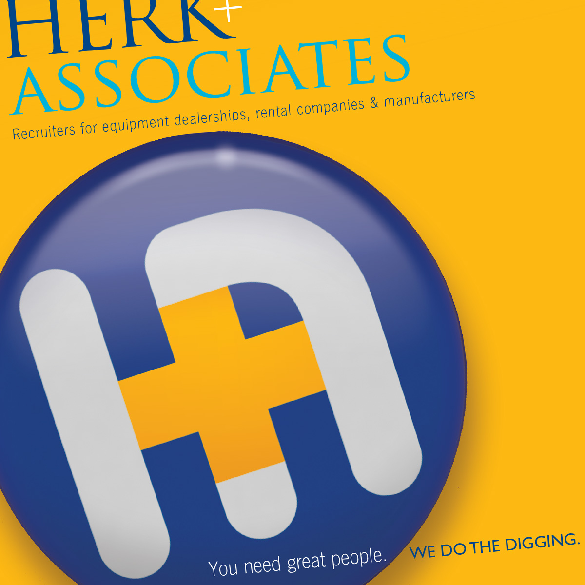 Herk & Associates brochure. Complete identity refresh and brand tag.